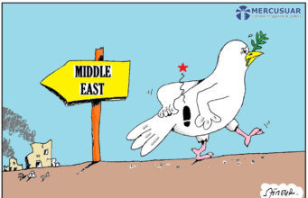 "Karikatur ""Peace in Middle East"" karya Aimeur - Algeria"