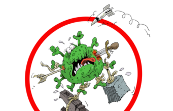 "International Cartoon Contest "" We Defeat Coronavirus"" 2020, Iran 