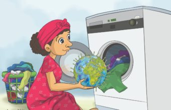 "Editorial Cartoon ""Clean the Earth from Coronavirus"" by Hader Yehia, Egypt"