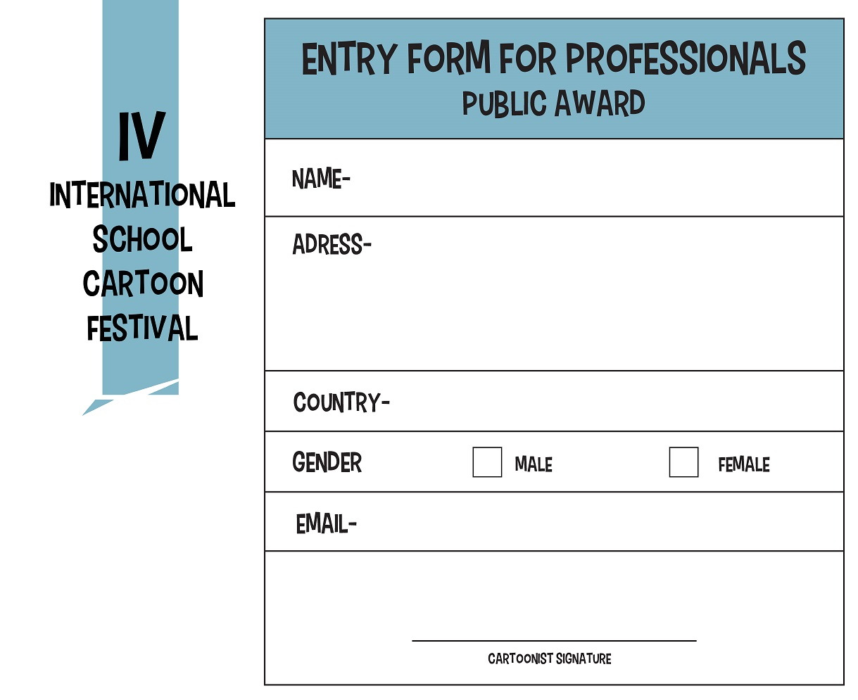 ENTRY FORM PROFESSIONALS