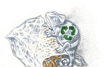 "Editorial Cartoon Recycling Plastic"""" by Jitet Kustana"