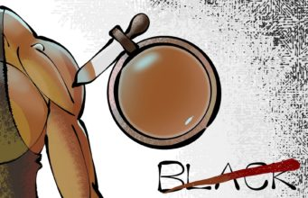 "Editorial Cartoon ""Black""by Nasif Ahmed, Bangladesh."