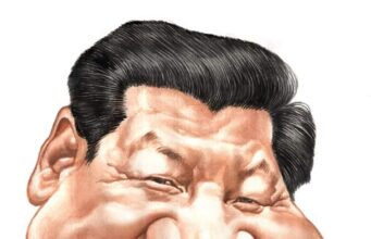Caricature Xi Jinping by Jitet Kustana