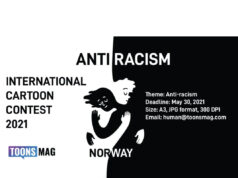Anti-racism International Cartoon Contest & Exhibition, Norway 2021 | Deadline April 30, 2021