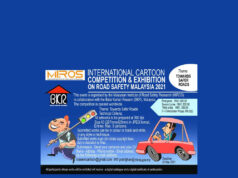 International Cartoon Competion On Road Safety -Malaysia 2021 Deadline: March 28, 2021